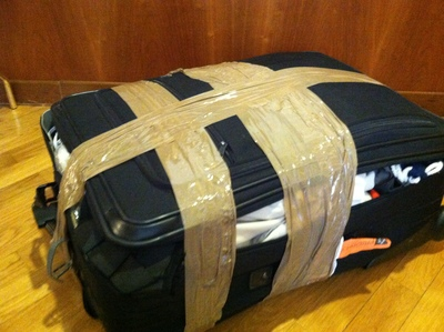 luggage, suitcase, damaged, travel